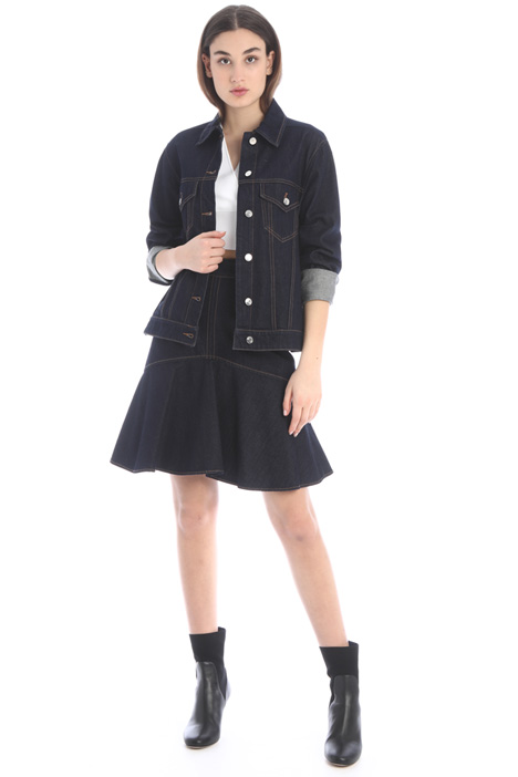 Flounced denim skirt Intrend