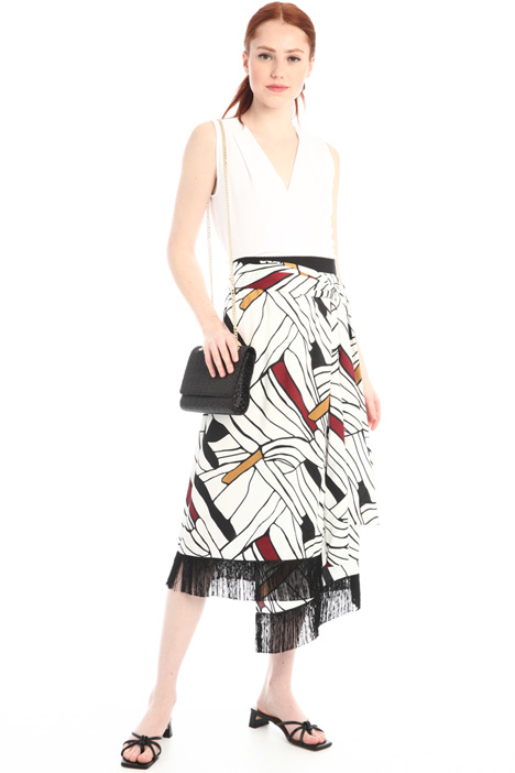 Asymmetrical twill skirt Intrend