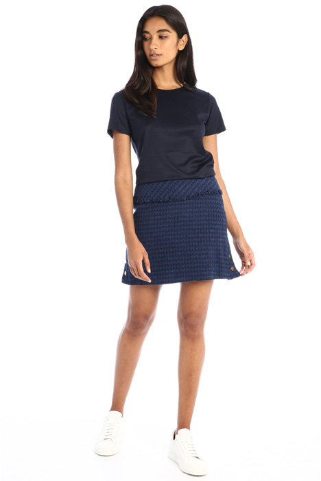 Flared tweed mini skirt Intrend