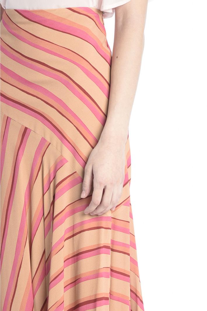 Flounced crepe skirt Intrend