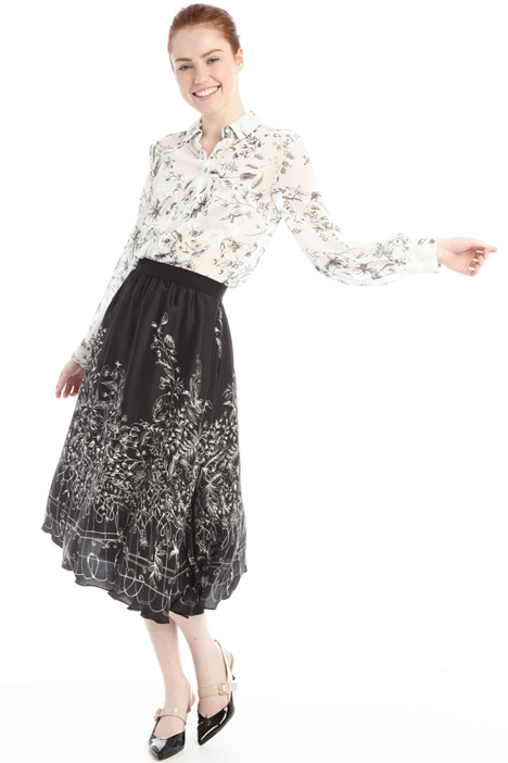 A-line twill skirt Intrend