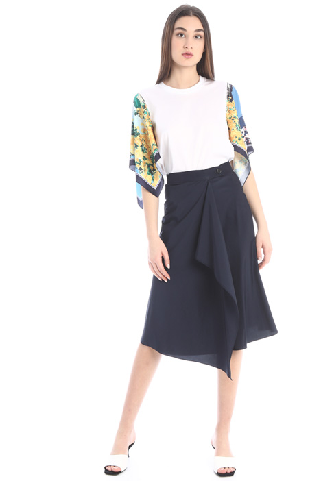 Wrap-up flounced skirt Intrend
