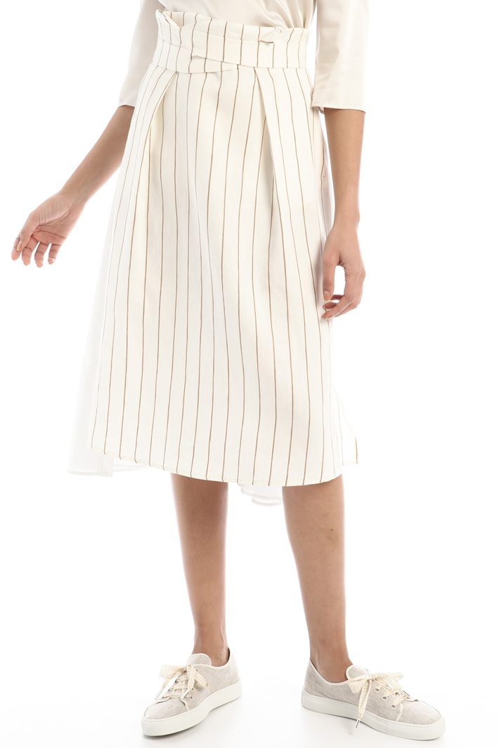 Cotton and linen skirt Intrend
