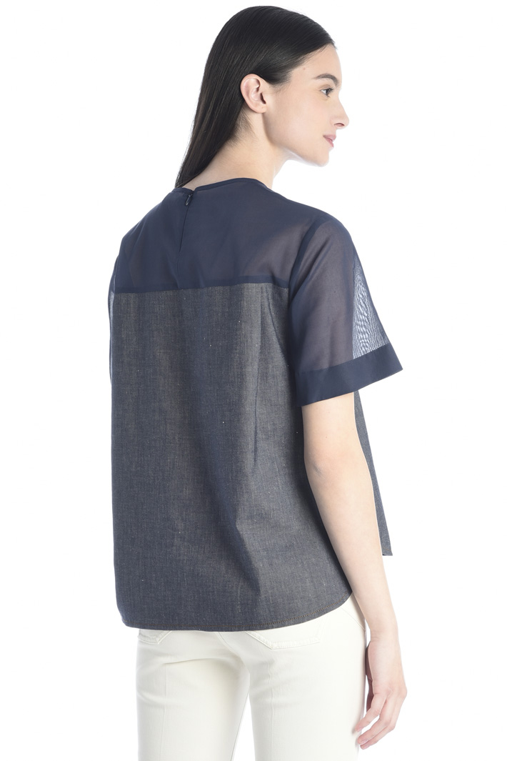 Denim-effect blouse Intrend