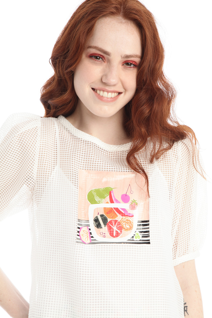 Mesh organza blouse Intrend