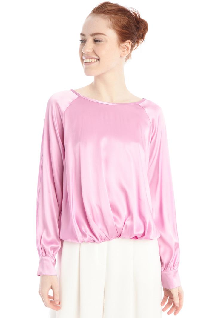 Silk blend satin blouse Intrend