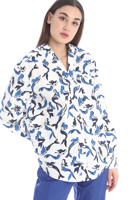 Patterned canvas shirt Intrend