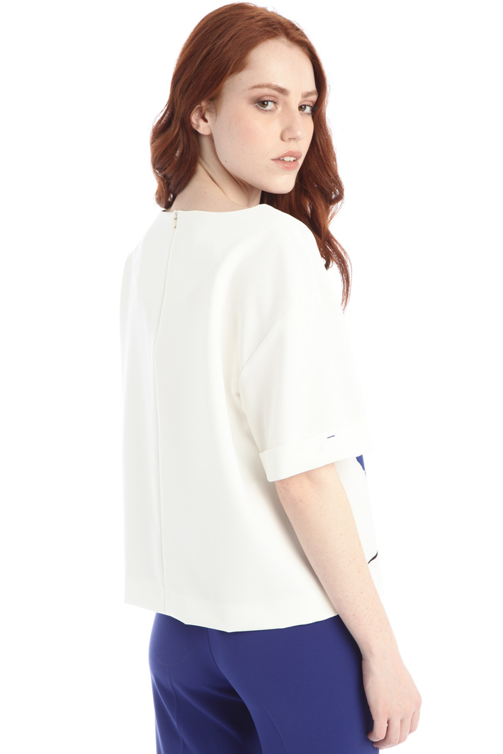 Printed compact cady top Intrend