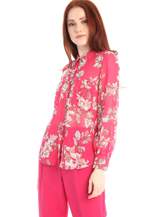 Printed georgette shirt Intrend