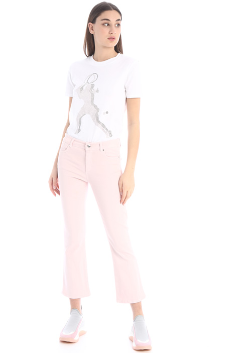 Crop cotton trousers Intrend