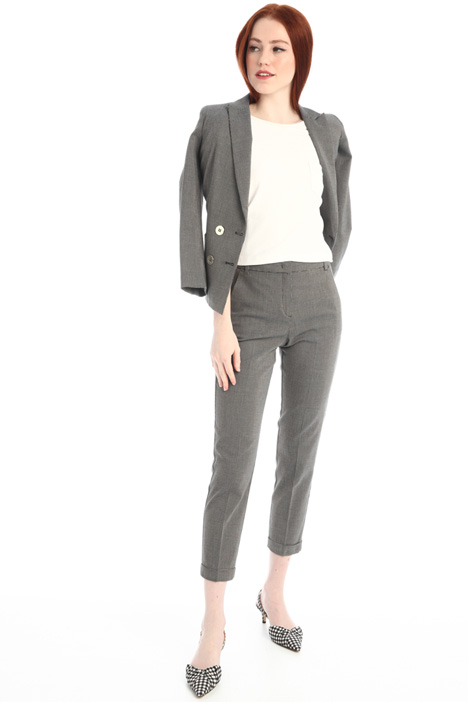 Cigarette trousers in canvas Intrend