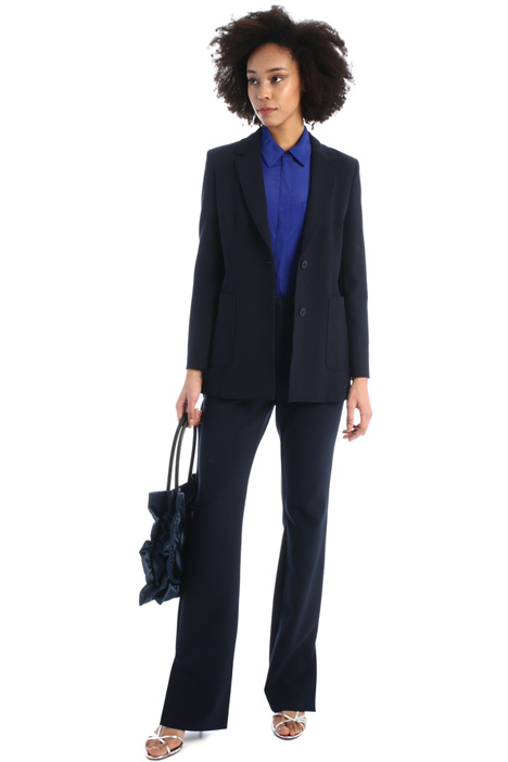 Cady trousers with ankle slits  Intrend
