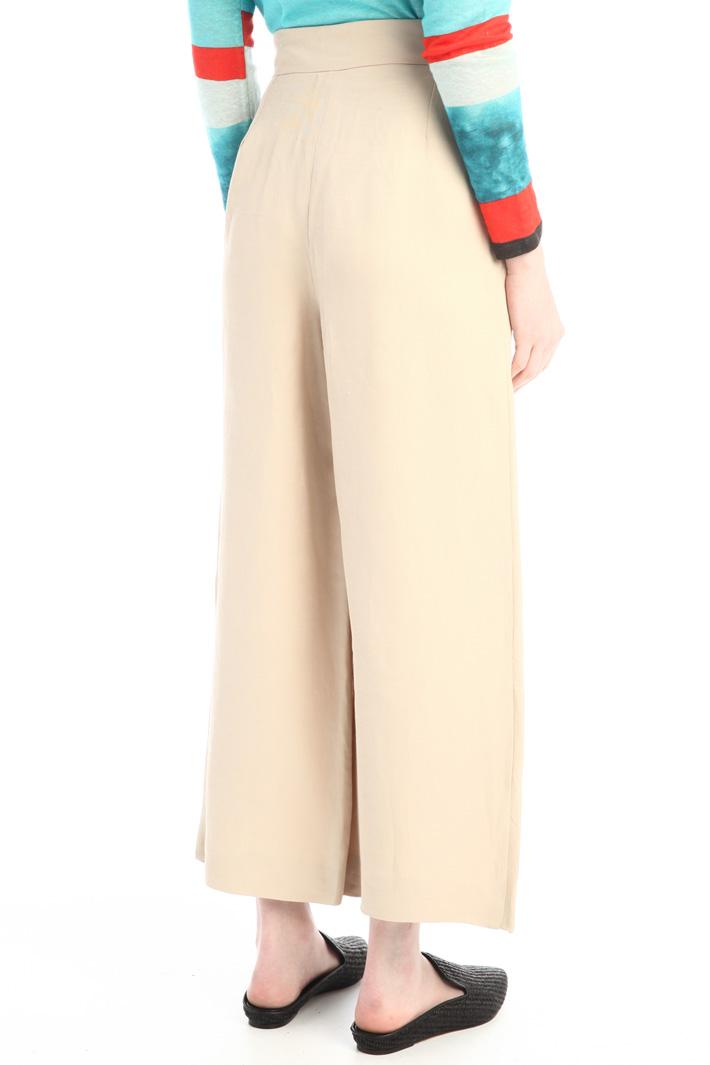 Wide leg linen trousers Intrend