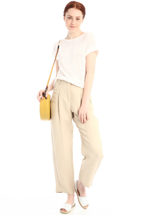 Linen carrot trousers Intrend