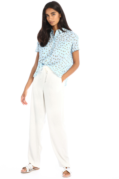 Straight crepe trousers Intrend
