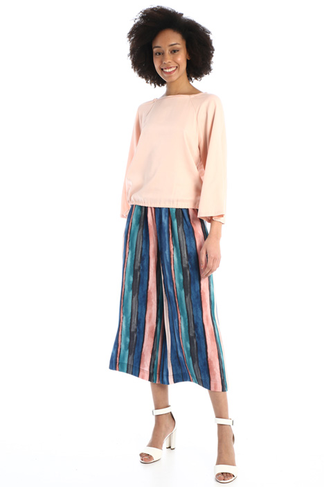 Printed sablé trousers  Intrend