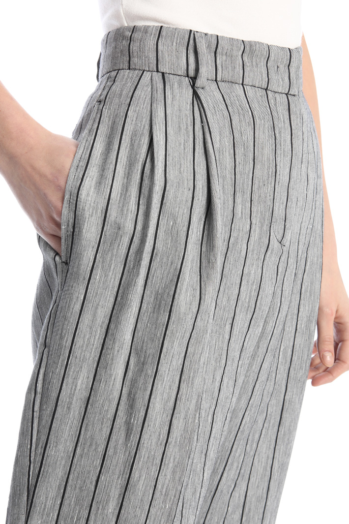 Straight linen trousers Intrend