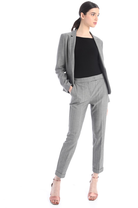 Slim-fit micropattern trousers Intrend