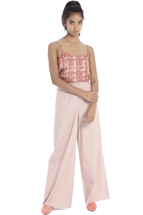 Wide-leg poplin trousers Intrend