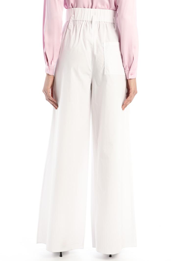 Wide-leg poplin trousers Intrend