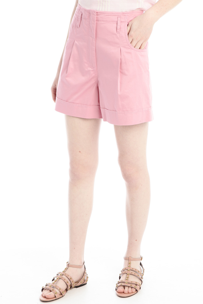 Cotton satin shorts Intrend
