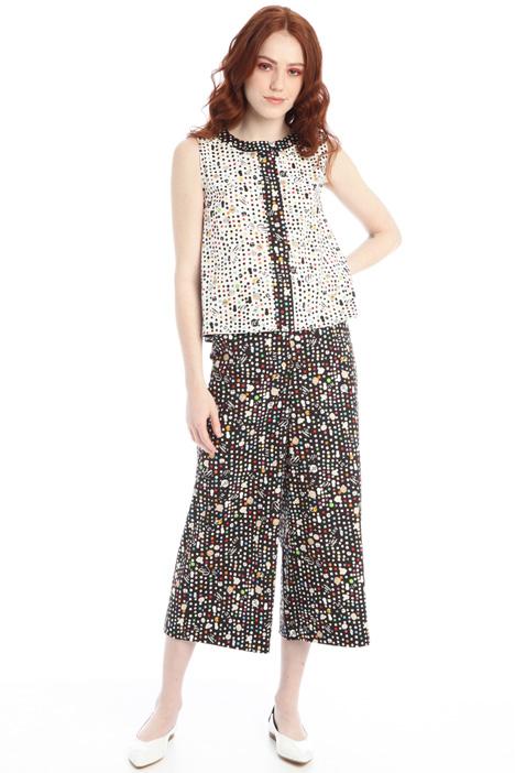 Printed poplin blouse Intrend