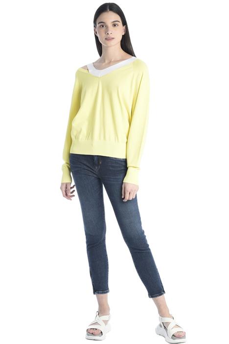 Jeans skinny con zip al fondo Intrend