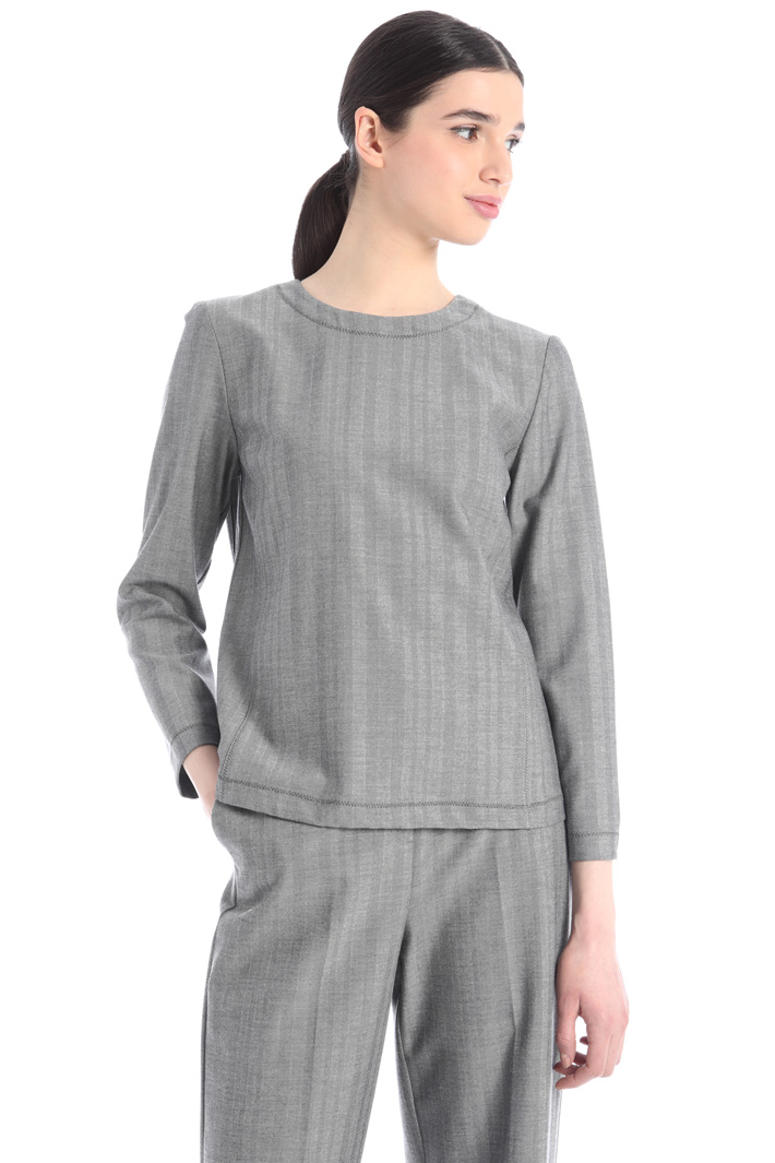 Micropattern blouse  Intrend