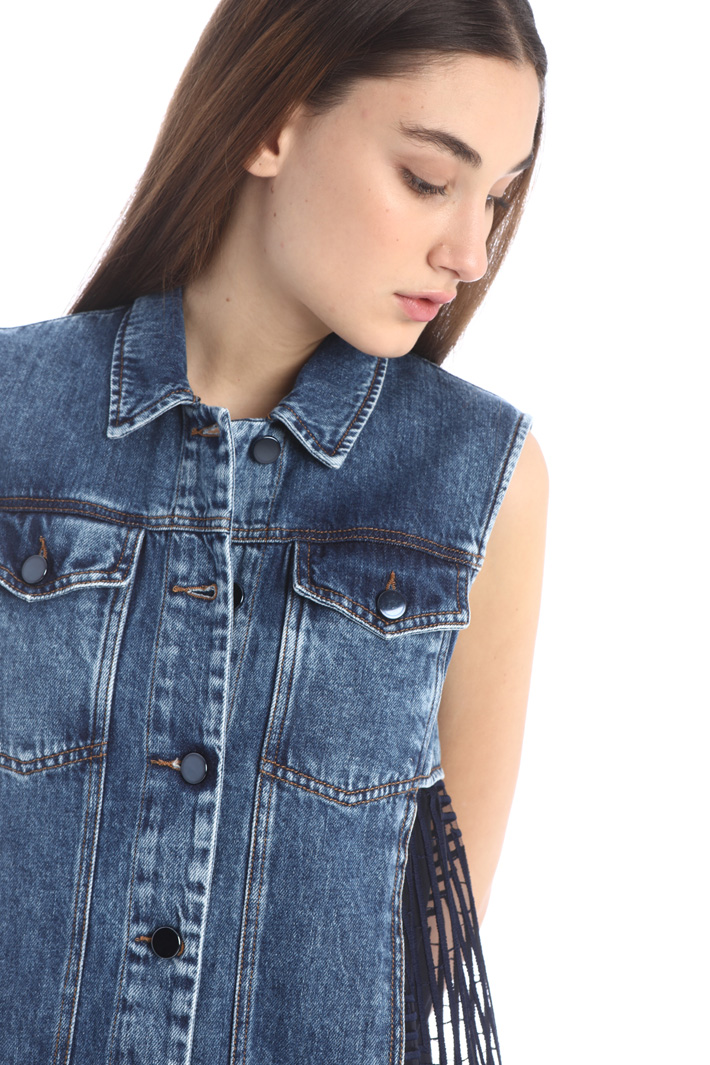 Denim and tulle vest Intrend