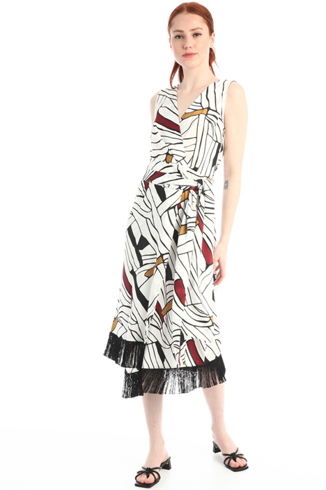 Asymmetrical fringed dress Intrend