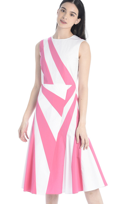 Colour-block poplin dress Intrend