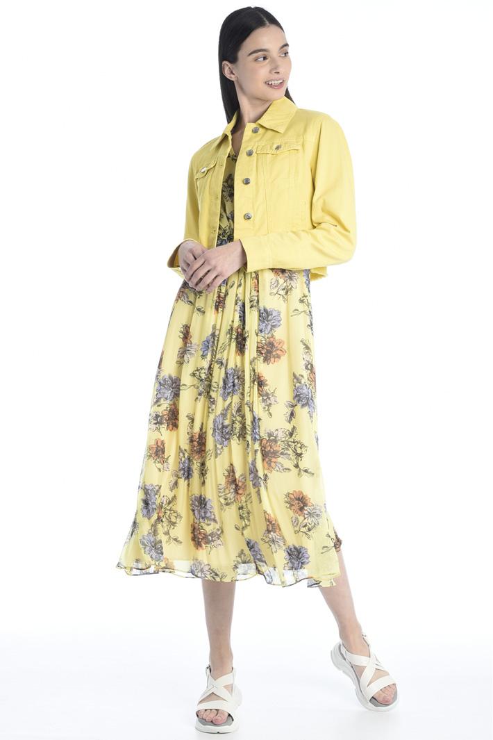 Draped chiffon dress Intrend
