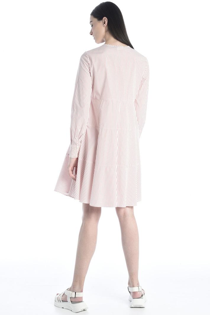 Flowy cotton poplin dress Intrend