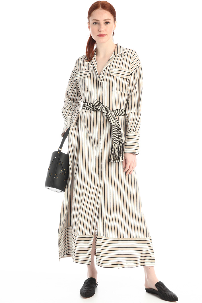 Chemisier dress with slits Intrend