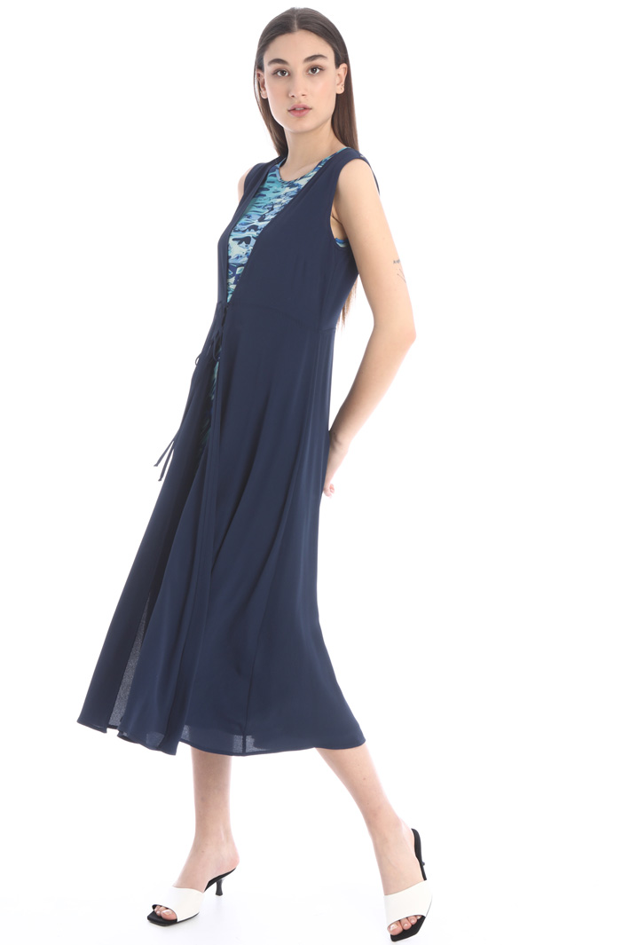 Flared dress with vest Intrend