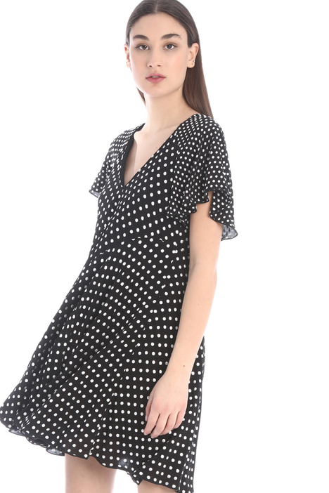 Embroidered crepe dress Intrend