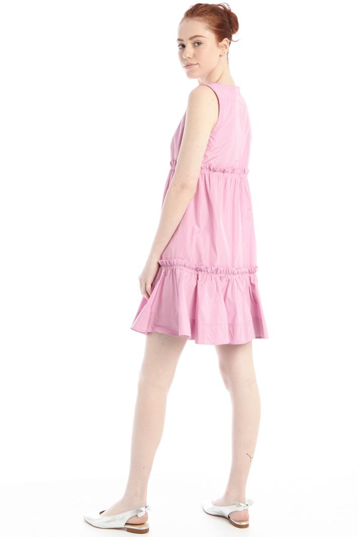 Flounced-trimmed taffeta dress Intrend