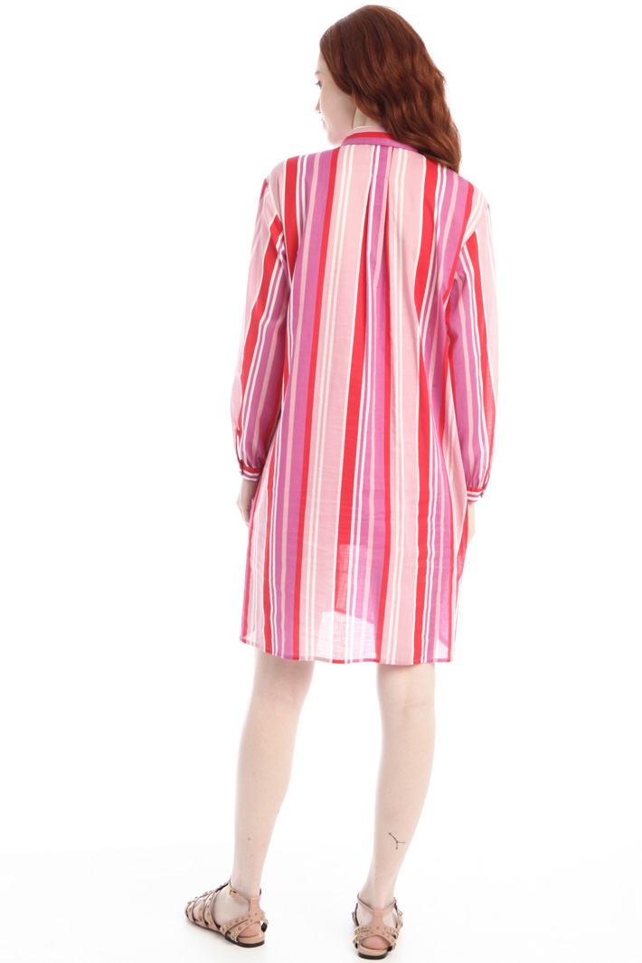 Printed dress with slits Intrend