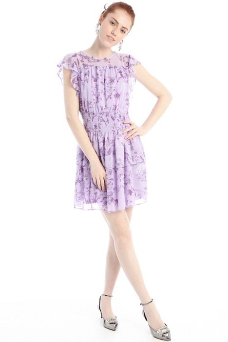 Patterned georgette dress Intrend