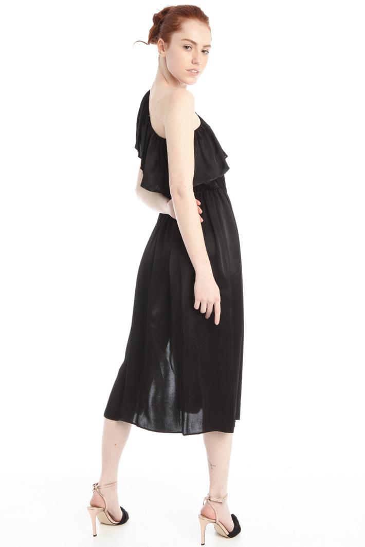 One-shoulder satin dress Intrend