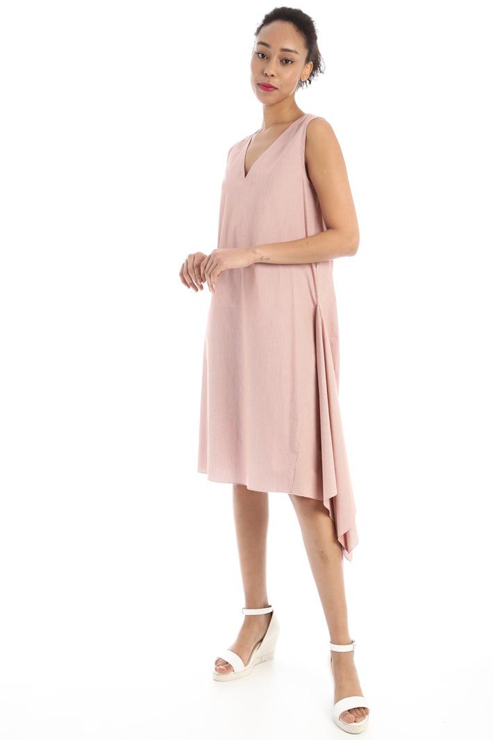 Asymmetrical flounced dress Intrend
