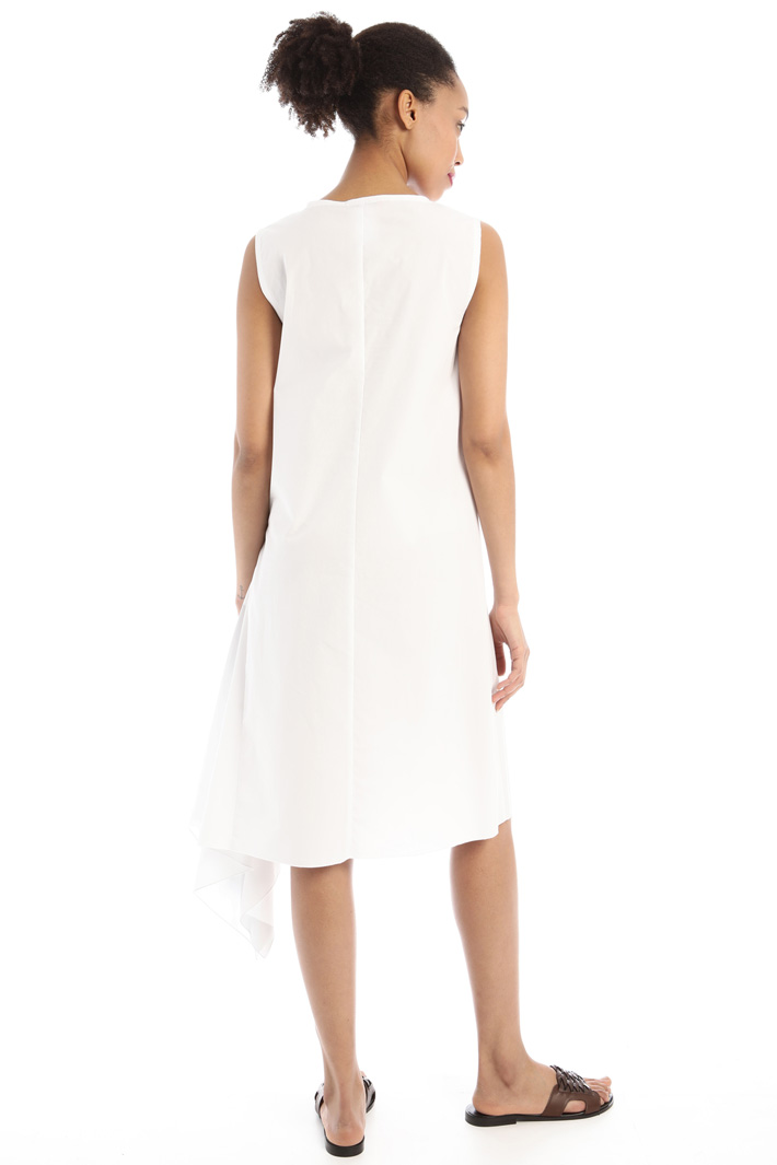 Asymmetrical flounced dress Intrend