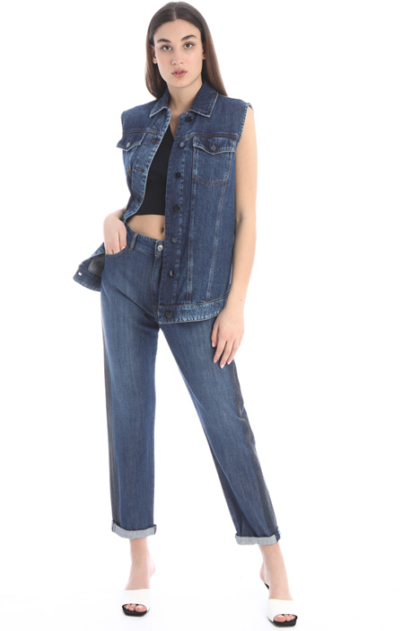 Denim and organza vest Intrend