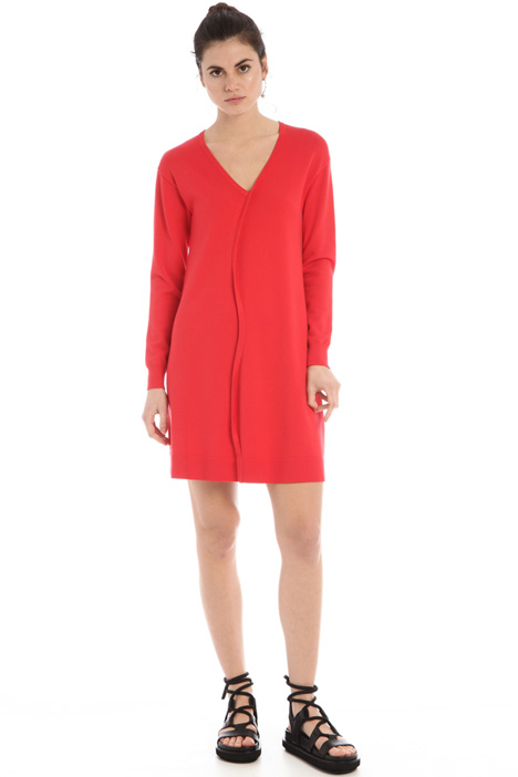 Knit dress with wavy trim  Intrend