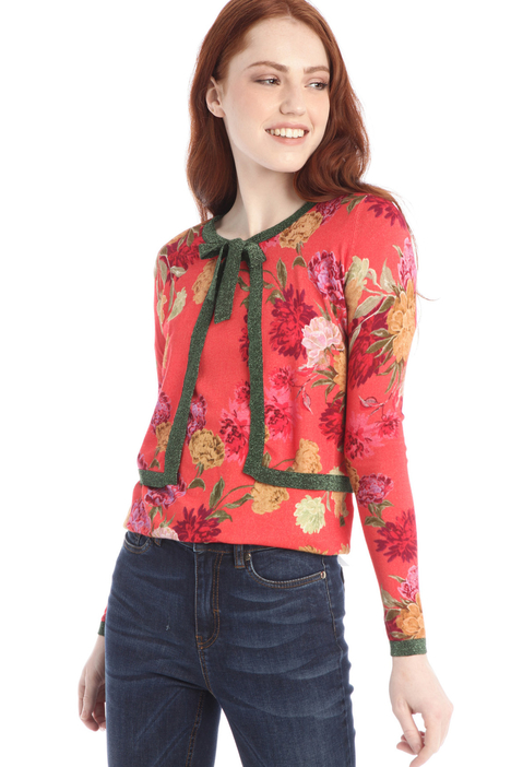 Bow-detailed cardigan Intrend