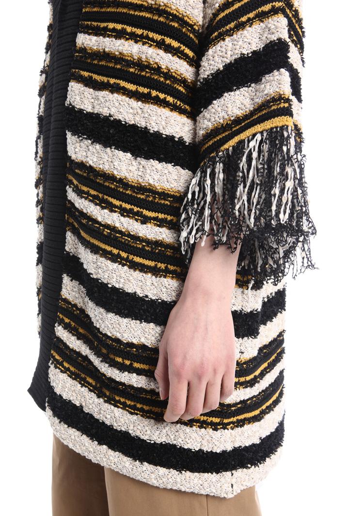 Oversized fringed cardigan Intrend