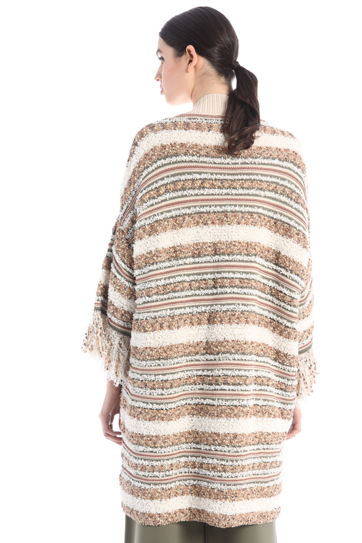 Oversized fringed cardigan Intrend