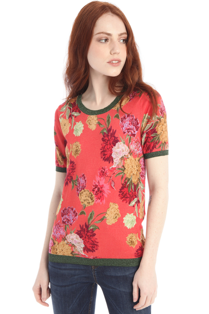 Printed knit T-shirt Intrend