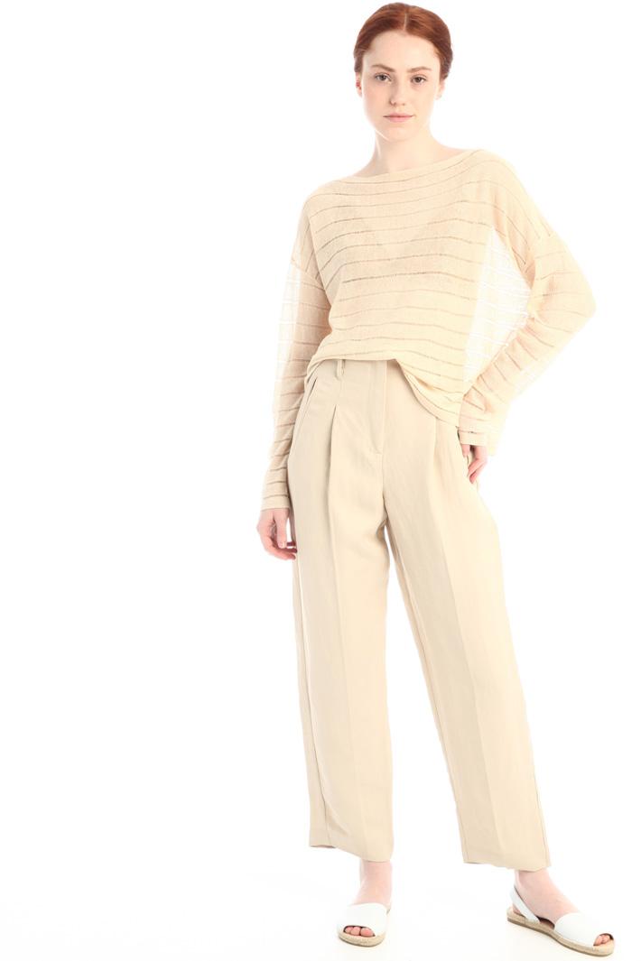 Oversized linen sweater Intrend