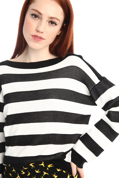 Oversized yarn dyed sweater Intrend